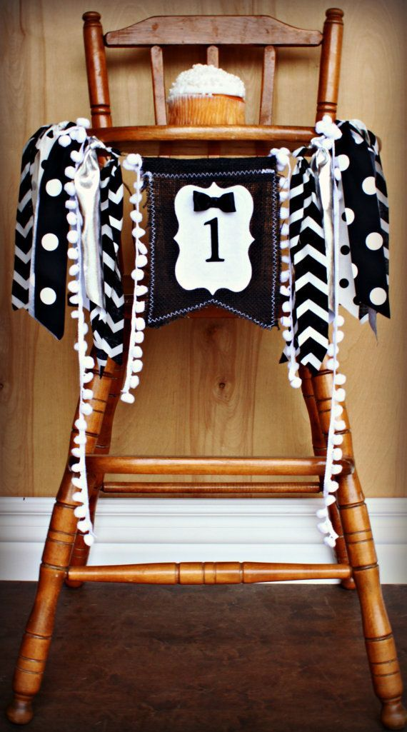 Little Guys in Tuxedos and BOW TIES Birthday Age High Chair Highchair Birthday Banner/Party/Photo Prop/Backdrop/Little Man Birthday Party