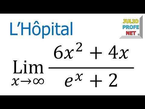 Regla de L'Hopital - Ejercicio 4 - YouTube