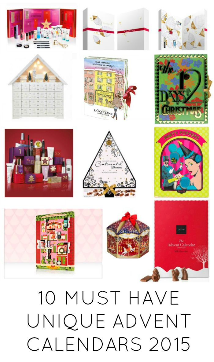 10 Must have unique advent calendars for 2015. Calendars from No7, Benefit, Thorntons, Hotel Chocolat, Yankee Candle, Clarins, Lush, L'Occitane, Marks & Spencers, Lakeland. These will keep your smiling on the countdown to Christmas ladies.