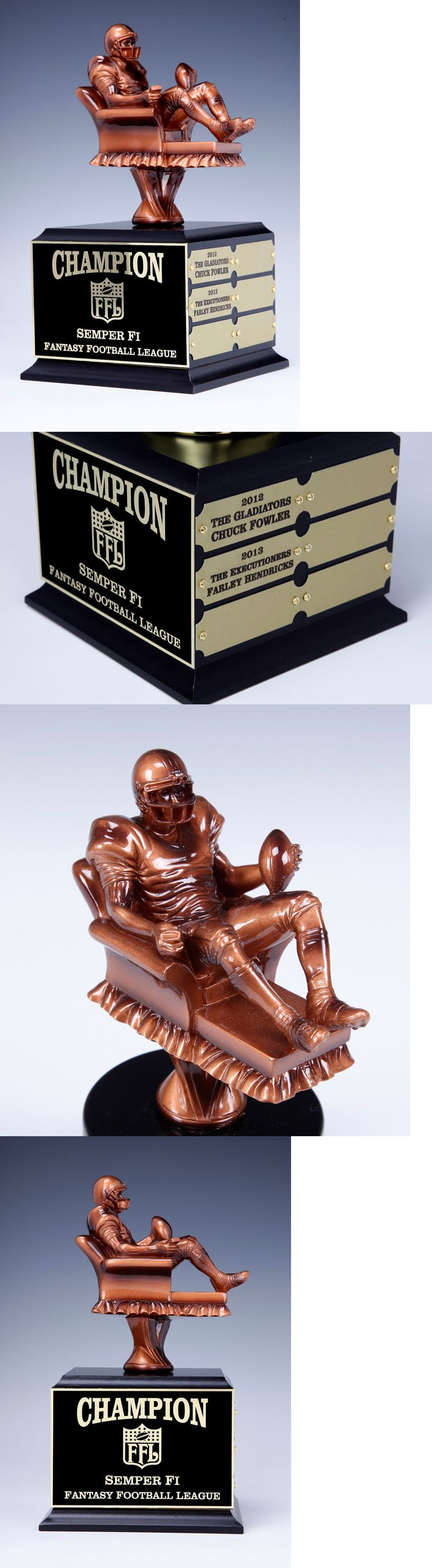 Other Football 2024: Fantasy Football Perpetualtrophy Arm Chair Quarterback 12 Year BUY IT NOW ONLY: $69.2