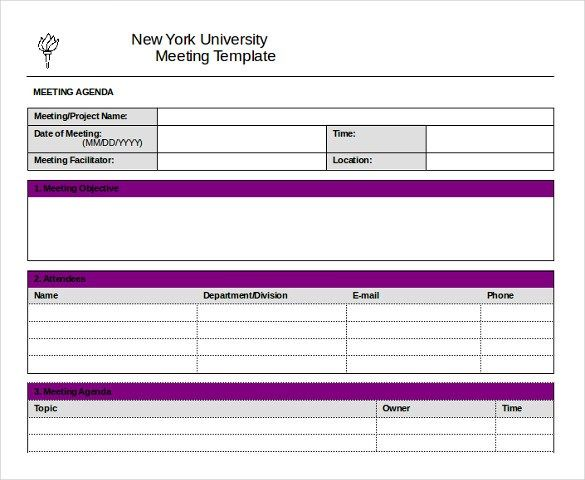 University Meeting Templates