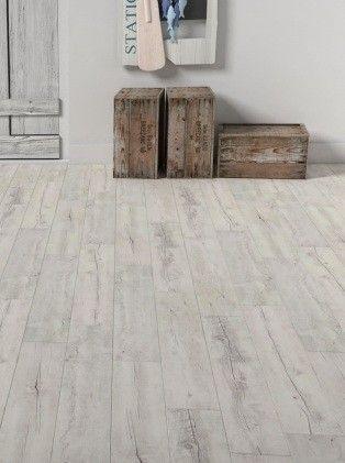 Lame vinyle à coller imitation bois vieilli blanc Artline Calypso ...
