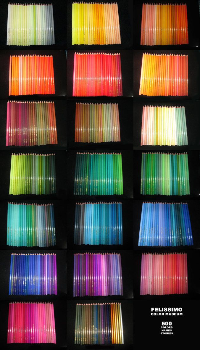 Felissimo Color Museum boasted the biggest color range in the world with 500 colors, each having superficial names that tell a story. In terms of appearance, each colored pencil is no less than bea...