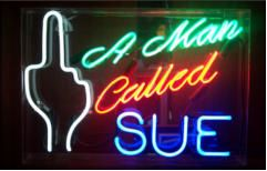 A Man Called Sue Neon Sign
