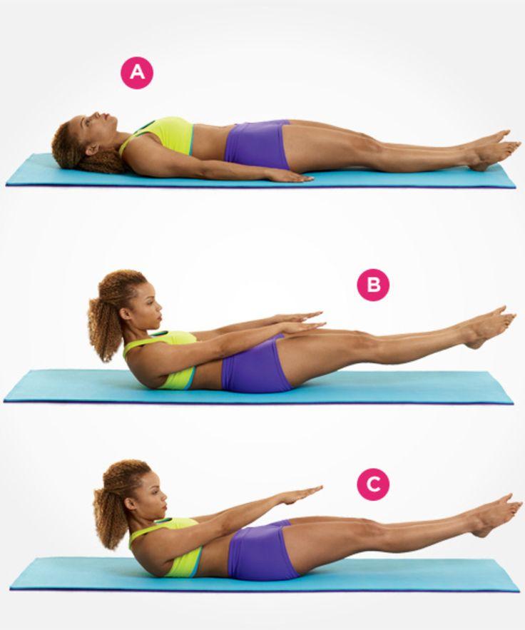 Print The Flat Abs Pilates Workout