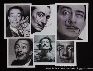 Adventures of an Art Teacher: Dali's Mustache Bulletin Board