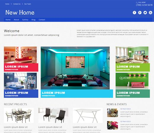 17 Best Images About Interior And Furniture Responsive Mobile Web Templates On Pinterest House
