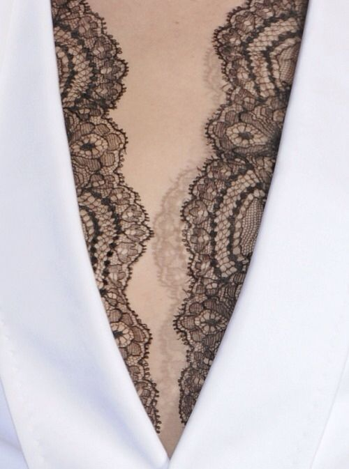peek-a-boo lace #style #fashion