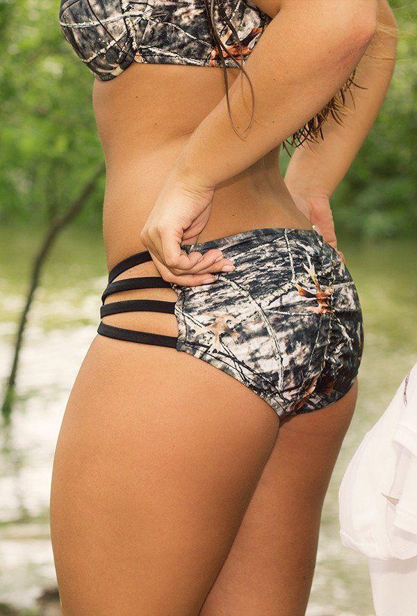 CamoGirl Camo & Straps Bikini Bottom