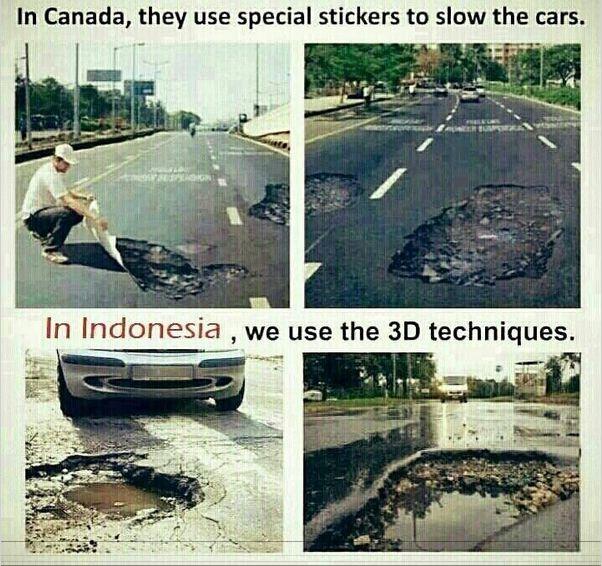 Ternyata Indonesia lebih maju dari pada Kanada, Indonesia sudah memakai sistem 3D
