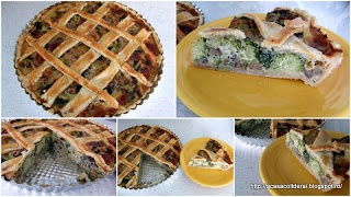 by Acasa Colt de Rai - Broccoli and mushroom pie, with a twist of blue cheese and Grana Padana.