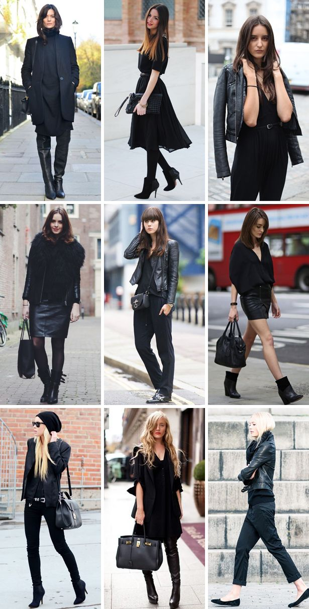 How to wear // all black outfits
