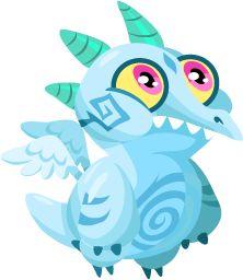 Dragon City Blizzard Dragon baby