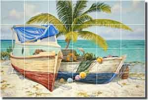 Shaffett Tropical Nautical Ceramic Tile Mural 36