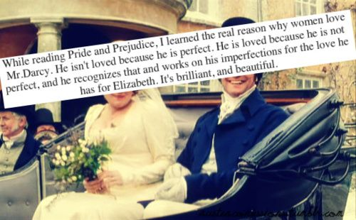 I agree. Pride  Prejudice is a beautiful story because they both realize their shortcomings- and their story doesn't end with the book!