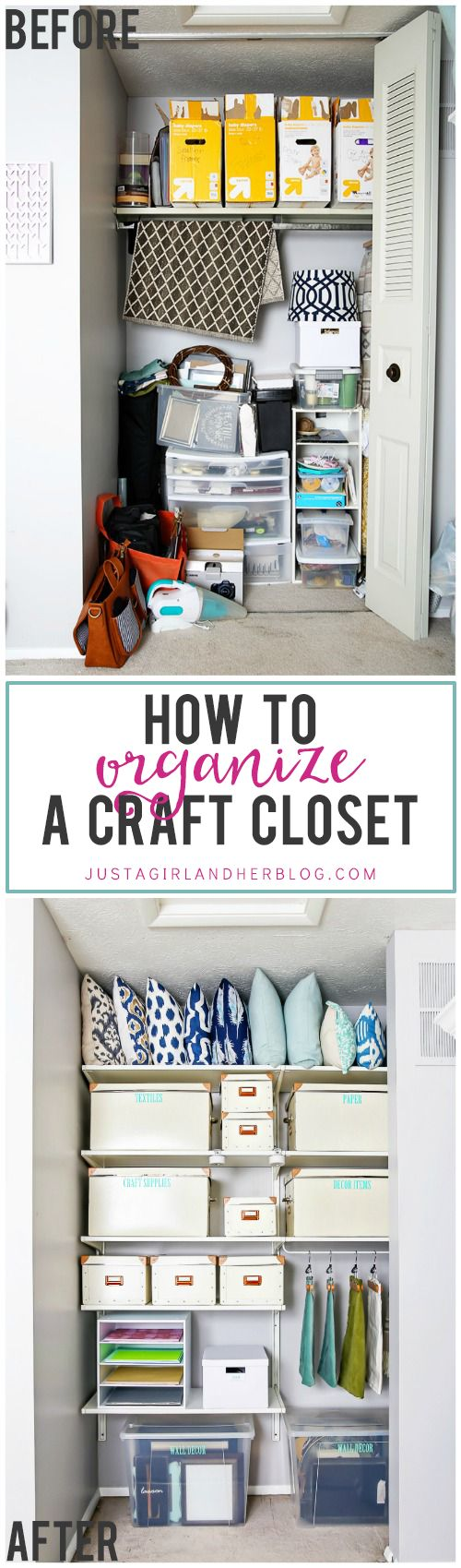 Craft closet storage - How To Organize A Craft Closet