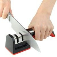 Wish | Hard Carbide Ceramic Sharpening Stone 2 Stages Handle Household Knife Sharpener