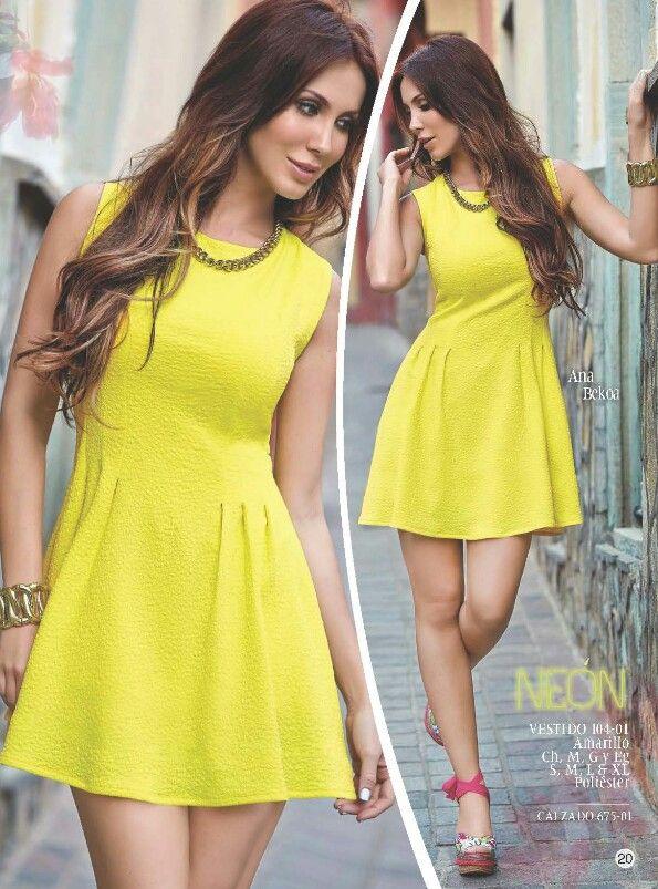 Vestido amarillo Cklass $480