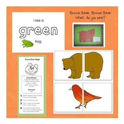 Brown Bear, Brown Bear activities  Cut picture in half and have students match them!