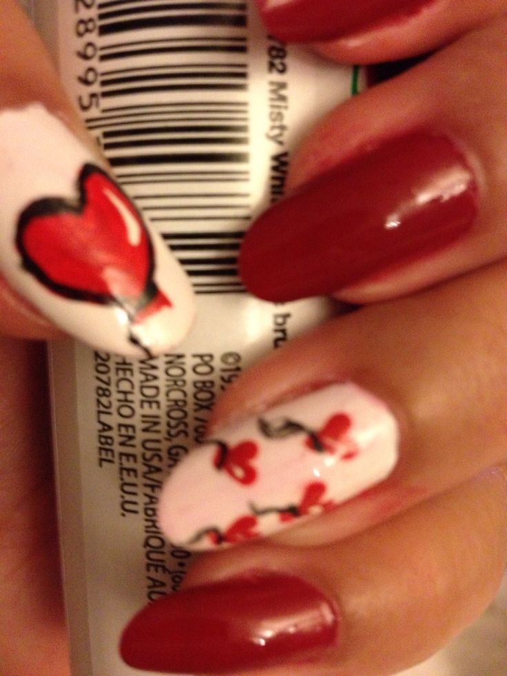 valentine day nail art pictures