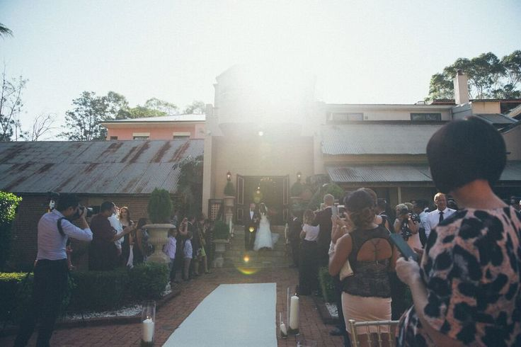 Walking out of those magical doors to marry the one you love! | Eschol Park House | Wedding Garden Ceremony