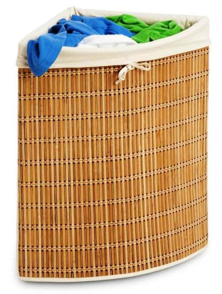 bamboo wicker corner basketgreat for tight spaces