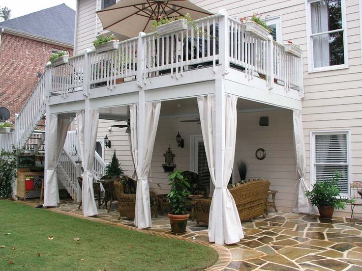 Charming A Little Peace Just Under The Deck. Nice Curtains Under Deck