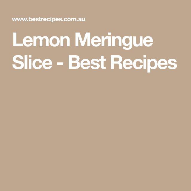 Lemon Meringue Slice - Best Recipes
