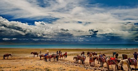 Tibetan nomads at Namtso Lake. South-Wes Photo by Nora de Angelli - www.noraphotos.com -- National Geographic Your Shot