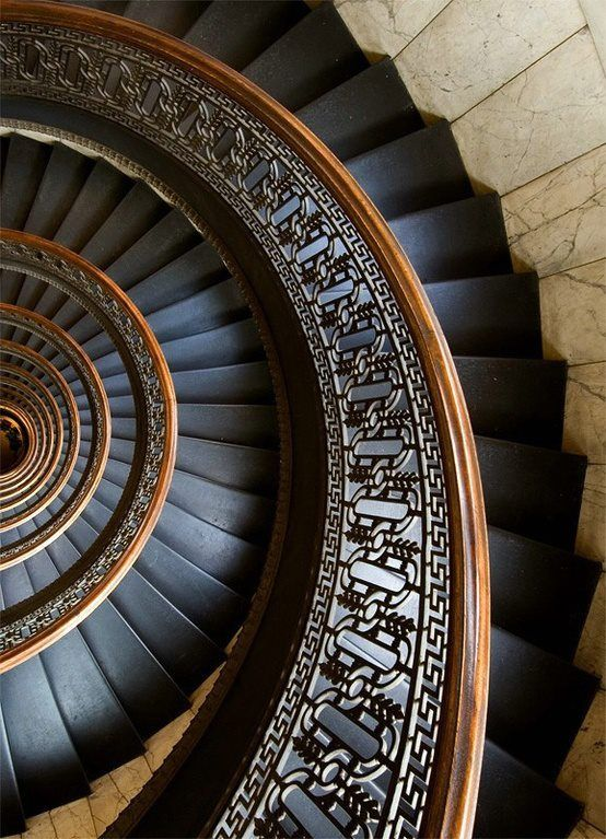 Circular Staircase In The Bank Tower In Pittsburgh, Pennsylvania Photo By  Andrew Boydu201d