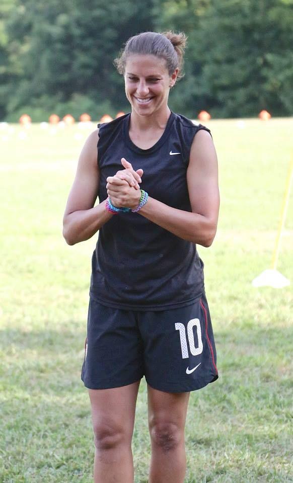 Carli Lloyd at her summer soccer camp. (Facebook)