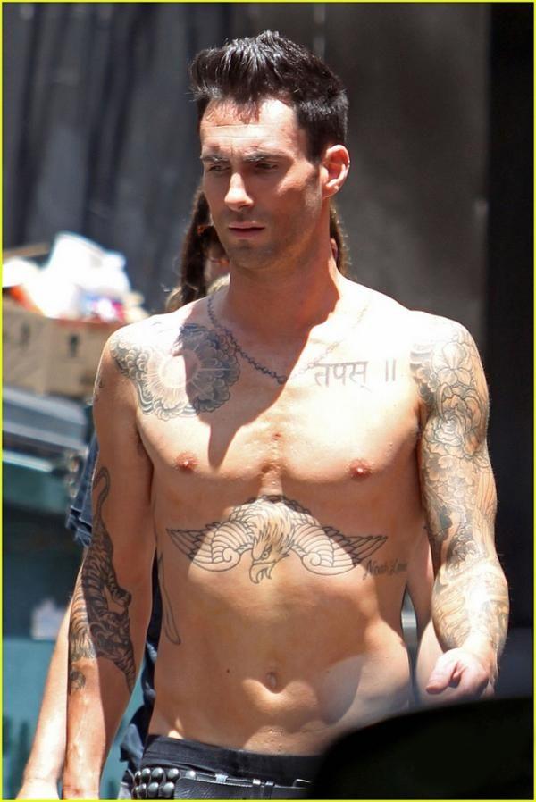 adam levine shirtless 25 Sexy Adam Levine Tattoos