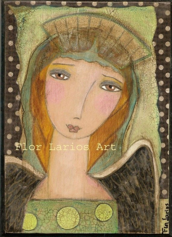 Looking After You   Angel from Painting by FLOR by FlorLarios, $15.00