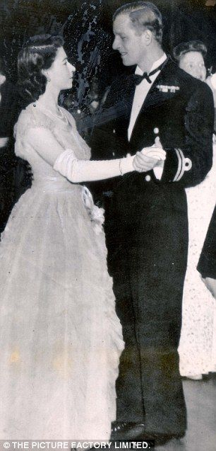 Princess Elizabeth and Prince Philip dancing at a Youth Service Ball in Edinburgh 1947