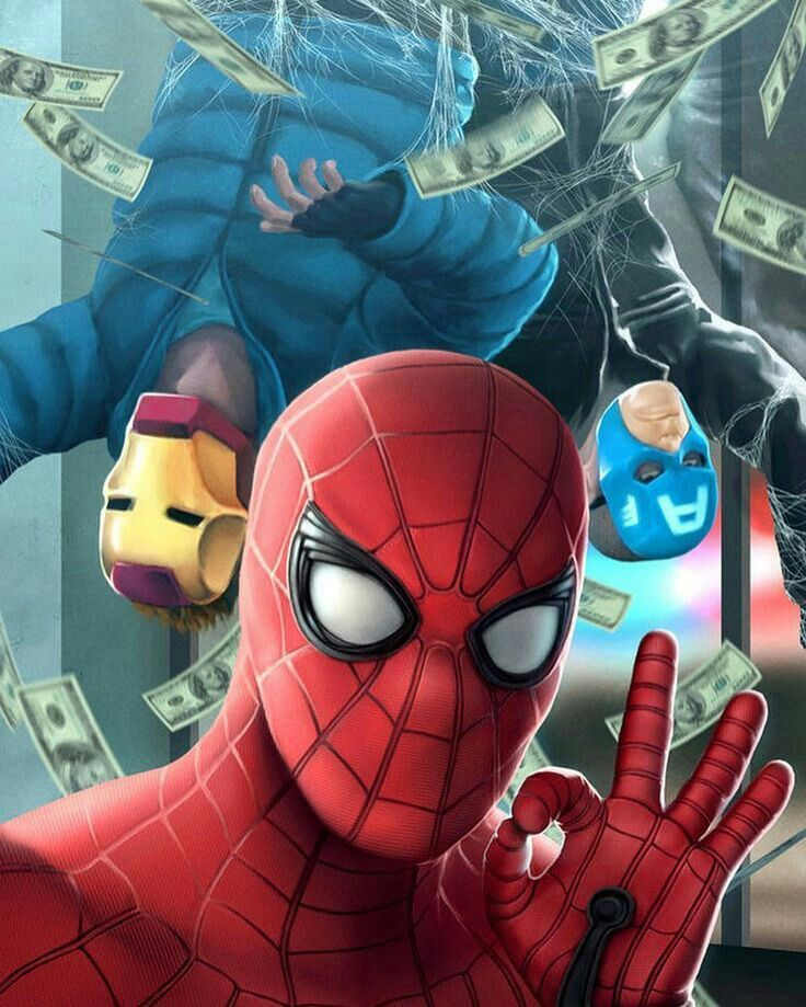 Spider-Man and the bank robbers (Homecoming 2017)