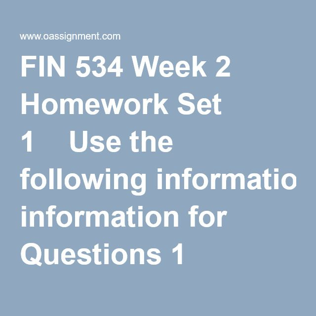 FIN 534 Week 2 Homework Set 1  Use the following information for Questions 1 through 4:  Assume that you recently graduated and have just reported to work as an investment advisor at the one of the firms on Wall Street. You have been presented and asked to review the following Income Statement and Balance Sheets of one of the firm's clients. Your boss has developed the following set of questions you must answer  1. What is the free cash flow for 2014 ?  2. Suppose Congress changed th...