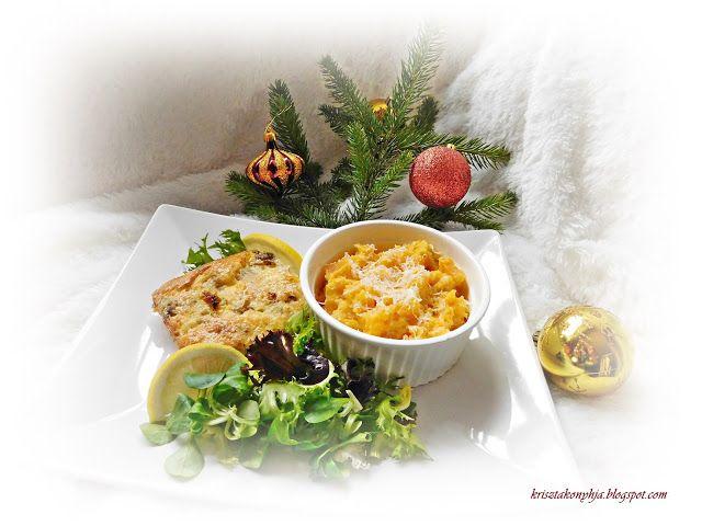 Kriszta konyhája- Sütni,főzni bárki tud!: Karácsonyi halfelfújt tört édesburgonyával
