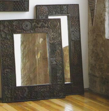 Vintage Woodprint Mirrors - eclectic - mirrors - Rian Rae