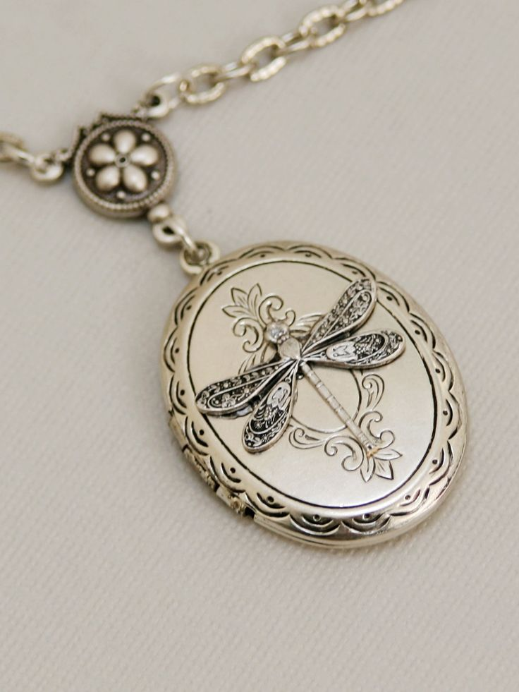 Love this Silver Dragonfly LocketSilver LocketLocketSilver by emmagemshop, $26.99