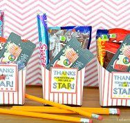 Teacher Appreciation Gift: Movie Gift Card Gift Idea and Free Printables by Tatertots and Jello