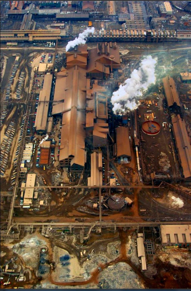 Sparrows Point once largest steel plant in the world. Baltimore MD