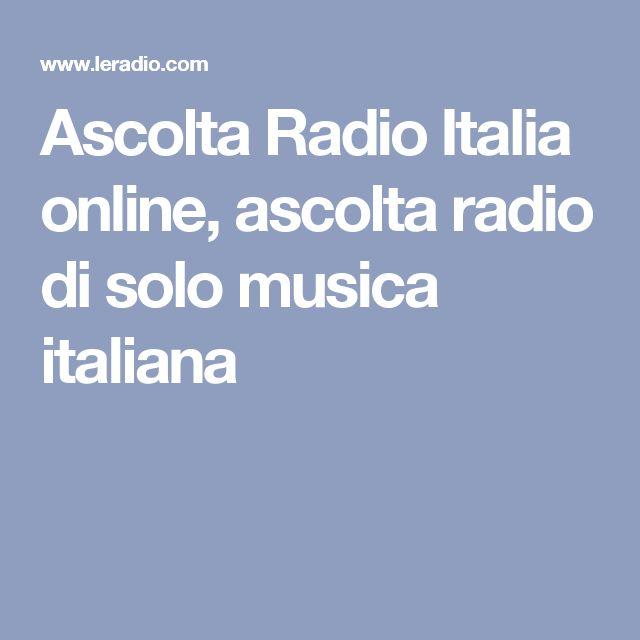Ascolta Radio Italia online, ascolta radio di solo musica italiana