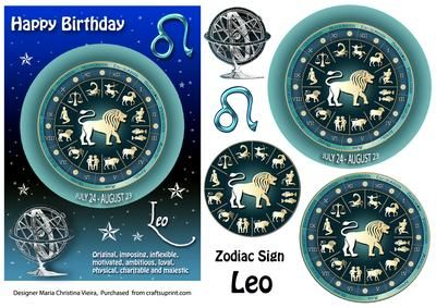 5x7 Zodiac sign Birthday card front with Pyramage layers . If you cant find a suitable Birthday card... you cant go wrong with a Zodiac sign card!