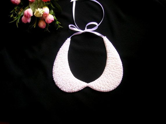 Peter pan collar necklace wedding pearl necklace bridal