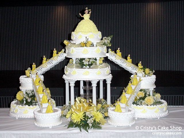 Something like this for cake but not yellow lol purple