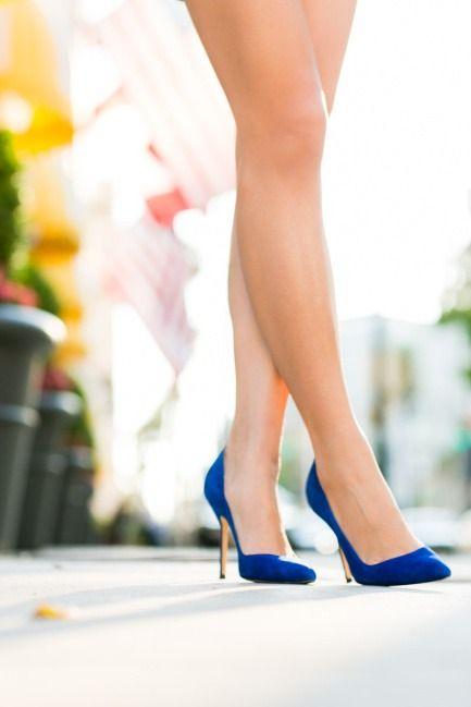 Sapphire Blue Elegant Heels