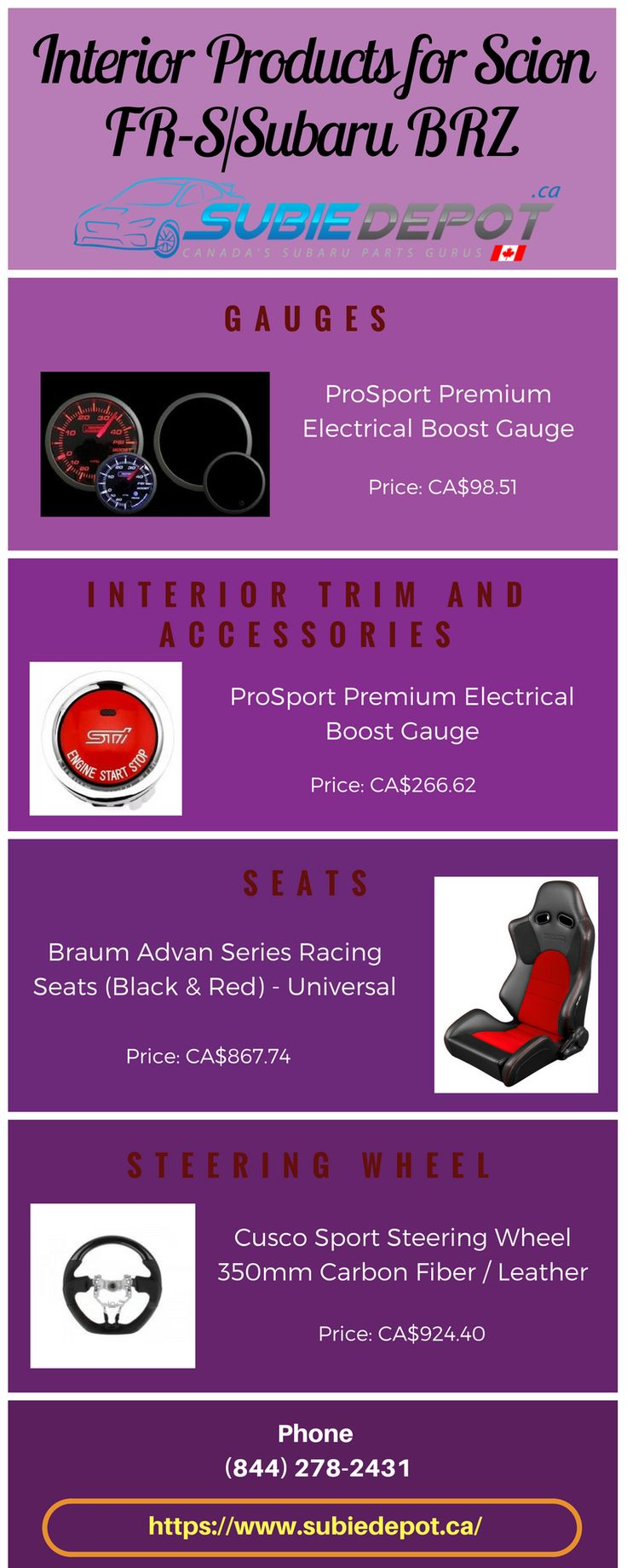Interior Products for Scion FR-S/Subaru BRZ   SubieDepot