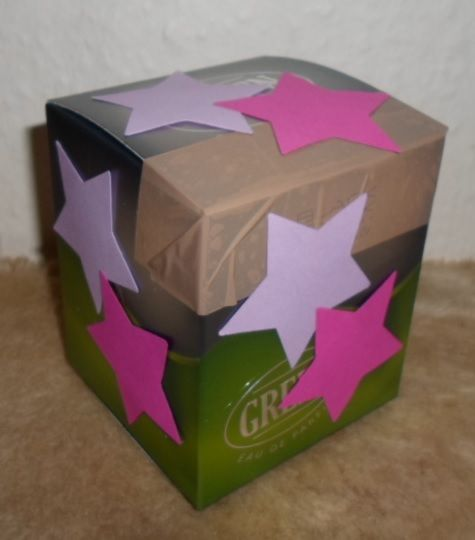 Box decorated with stars.