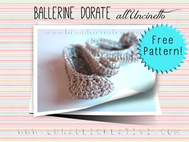 Ballerine all'uncinetto: free pattern