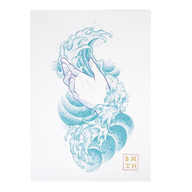 Limited Edition Waves Print - White
